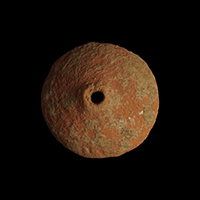 Pottery spindle whorl